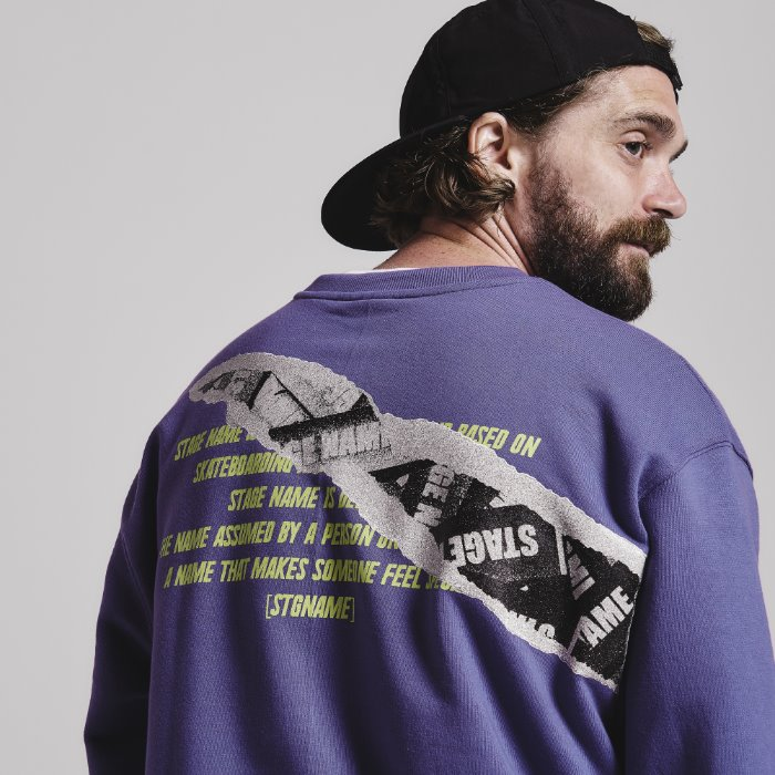 Intro sweat shirts_BL PURPLE