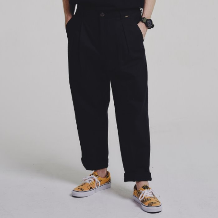 HBT wide pants_BLACK