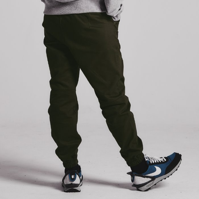 Dart jogger pants_KHAKI BROWN