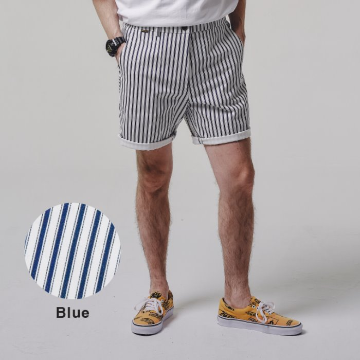 STRIPE shorts_BLUE