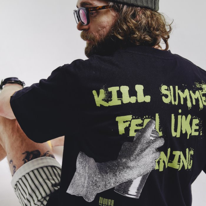 KILL SUMMER HF tee_BLACK