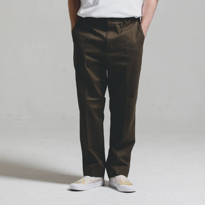 Double stitch STG PANTS_BROWN