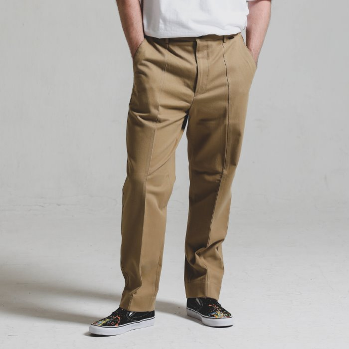 Double stitch STG PANTS_BEIGE