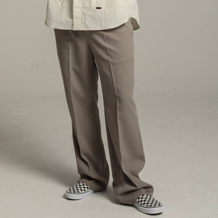 Long wide slacks_BEIGE