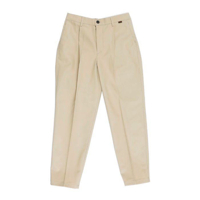 one tuck tapered cotton slacks_LIGHT BG